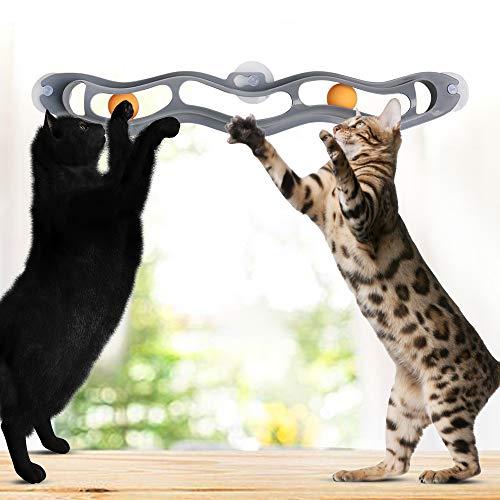 SKRTUAN Interaktives Spielzeug der Katze, Katzenspielzeug,Katze Bälle,Spielzeugball verfolgen,Katzenspielzeug Ball