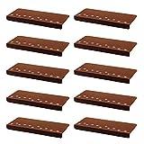 Gosear 13 Piezas Alfombras de Escalera Tela Cepillada 55.5 x 22.5 x 4cm Marrón