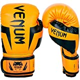 Venum Elite - Guantes de Boxeo Unisex para niño, neón y Naranja, FR: M (Talla del Fabricante: Mediana)