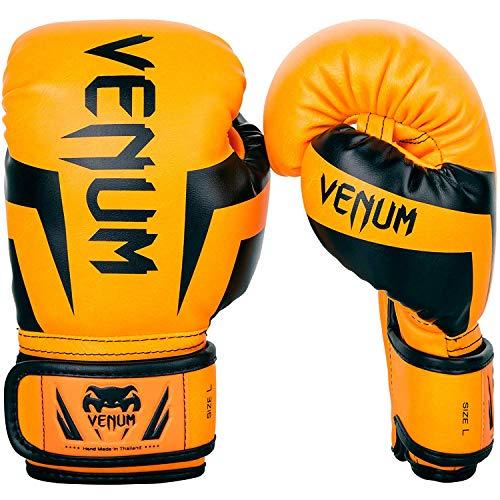 Venum Elite Boxhandschuhe Unisex Kinder, Neon / Orange, FR: M (Größe Hersteller: Medium)