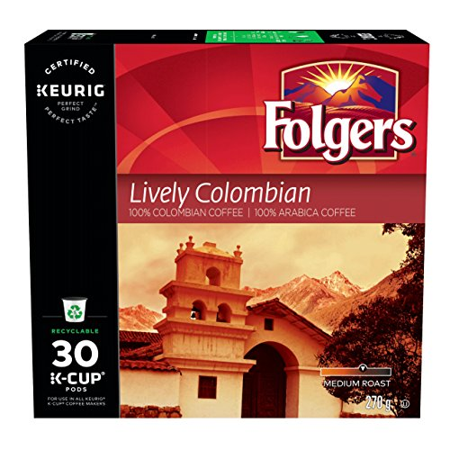 Folgers Lively Colombian K-Cup Coffee Pods 30 Count