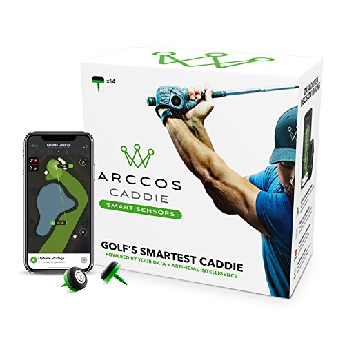 Arccos Caddie Smart Sensors Featuring Golf's First-Ever A.I. Powered GPS Rangefinder (2nd Generation)