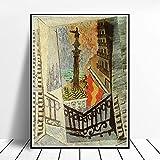 Enmarcado Pablo Picasso Arte mural Poster Salón Decoracion 《El Paseo de Colón》 Pintura Impresión Lona Corridor Pablo Picasso Decor Artwork