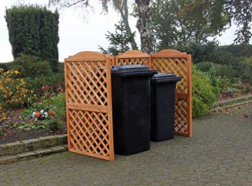 Promadino Mülltonnenspaliersystem Rex 2er Box
