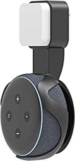 CaseSack Outlet Wall Mount Holder for Echo Dot (3rd Generation), Smart Holder for Easy use, Space Saving and Featured Hanger, Cord organizing and Hide Solution (Black)