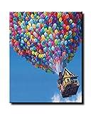 Kit de pintura al óleo para adulto por números, pintura acrílica, globos subiendo, de 40,6 x 50,8 cm, de Shukqueen.