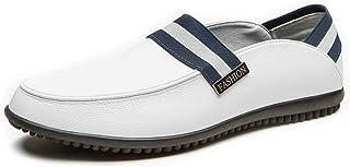 HCP-MX Zapatos de Hombre Genunie Slip de Cuero en Classic Slip-On Loafer Flats Low Heel.