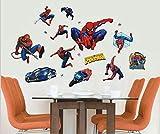 NOUVEAU Spiderman SET Amovible Stickers muraux Art Decal Décoration pour la maison des enfants