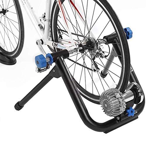 YLJYJ Vélo Turbo Trainer, Home Trainer Fluid Bike Trainer Stand Réduction du Bruit Support d'exercice intérieur Pliable pour 26-29 Pouces 700C Bicycles Road (Vélo d'exercice)