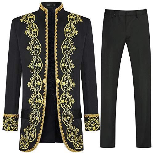 Abiti da Uomo di Lusso 3 Pezzi Casual Slim Fit Abito Elegante Taglio Stile Reale Giacca da Smoking Giacche e Gilet e Pantaloni
