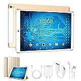 Tablette Tactile 10 Pouces, 4G Tablet PC Android 8.1 , 32Go 3Go RAM 8500mAh Batterie , Doule SIM, WiFi Bluetooth GPS OTG Tablettes Pas Cher Portable (d'or)