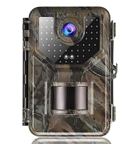 MIWKCAM Wildkamera 20MP 2.7K mit Infrarot-Nachtsicht bis zu 66 Fuß/30 m IP66 Spray Wasserdicht für Outdoor-Natur, Garten, Haussicherheitsüberwachung Grün