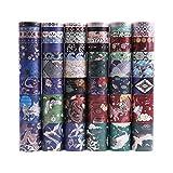 Lychii 60 Rolls cinta adhesiva decorativa colección Maletín de maquillaje Bullet para DIY manualidades, Revistas, planificadores, tarjetas, scrapbook
