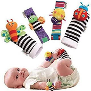 Blige SMTF Cute Animal Soft Baby Socks Toys Wrist Rattles and Foot Finders for Fun..