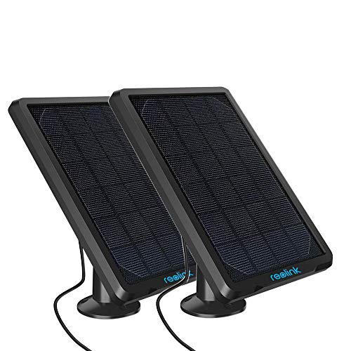REOLINK Solar Panel (2 Pack) for Reolink Battery Security Camera Argus 2/Argus Eco/Go/Argus PT, Waterproof, Reliable and Long-Stop Charging