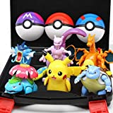 Zking 6 Piezas Lindo Pokemon Elf Ball Toy Set Pikachu Lunala Charizard Figura De Acción Modelo Pokemon Elf-Ball Juguete Transformable Niños