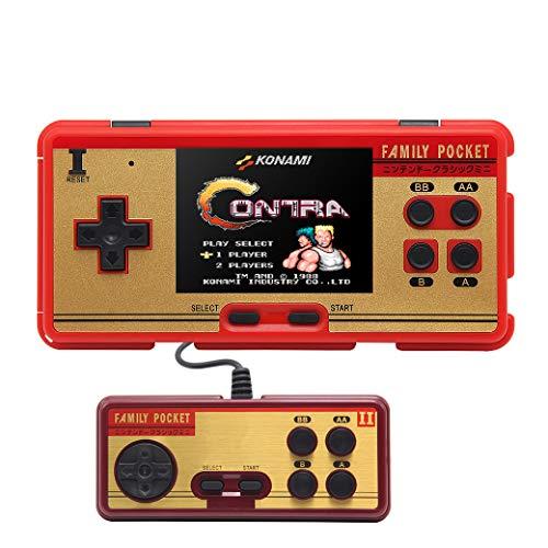 JXD 3 pollici schermo famiglia tasca retro videogioco console portatile console di gioco built-in 638 giochi supporto maniglia esterna per doppio gioco supporto AV uscita cavo (rosso)