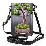 AOOEDM Monedero para pasaporte o teléfono celular con bandolera japonesa Bonsai Tree Japón para mujer