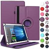 Nauci Tablet Hülle für Xido Z120 Z110 X111 X110 Tasche Schutzhülle Hülle Cover aus Kunstleder Standfunktion 360° Drehbar, Farben:Lila