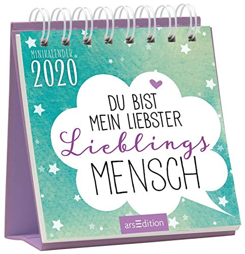 Minikalender Du bist mein liebster Lieblingsmensch 2020