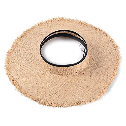 DöllSonnenhut Hut Raffia Hüte Weiblicher Feiertag Strandhut Damen Sommer Sonnenschutzkappen Modischer Strohhalm Leere Deckelkappen Visierhüte