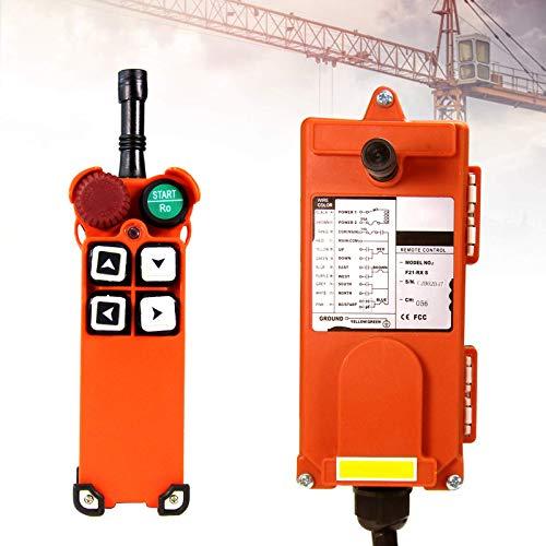 MXBAOHENG Mando para Grua Mando Puente Grua F21-4S 24V Mando para Polipasto Receptor y Transmisor
