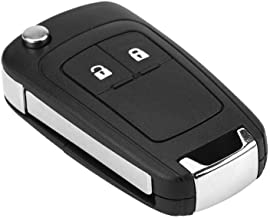 Terisass 2 Buttons Folding Keyless Entry Remote Key Fob Shell Case Replacement 1 Pc Key Fob Keyless Entry Remote Flip Shell Case with Uncut Blank Blade for Vauxhall Opel Astra Insignia