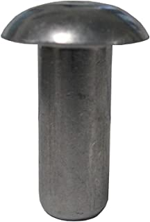 1//8 DIAMETER X .032-.187 GRIP RANGE, CLOSED-END - ALL STAINLESS RIVET, DOME HEAD, PACK OF 100 PIECES