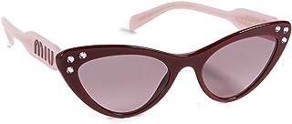 ميو ميو نظارات شمسية عين القطة للنساء ، بني - MU05TS USH146 55