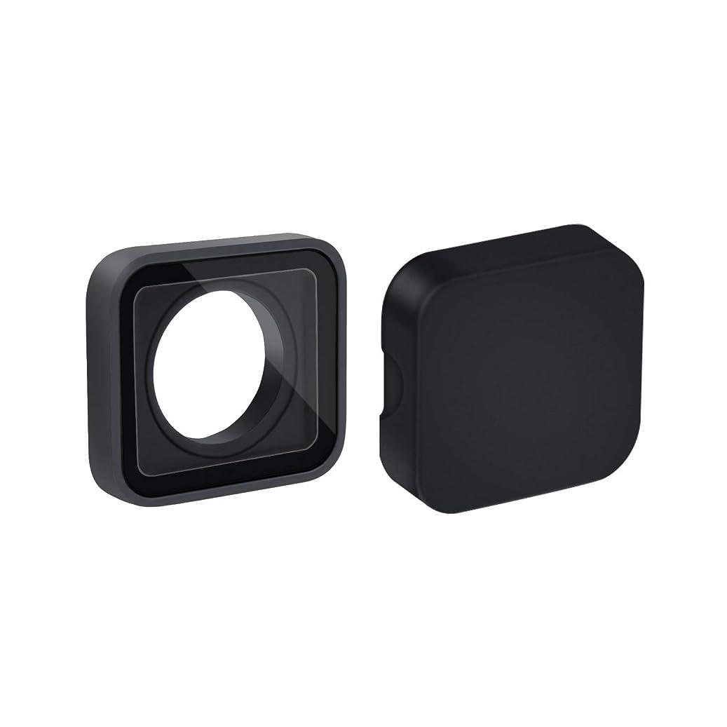 卒業入り口羨望保護レンズガラス交換パーツ HERO5/6 ブラック GOHIGH カメラレンズケース用 (1パック) & 防水レンズカバー GoPro5/6用 (1パック)