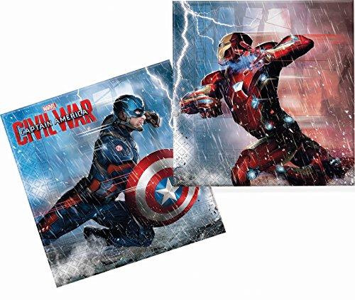 Unique Party Supplies Captain America Bürgerkrieg Papier Servietten, 20Stück
