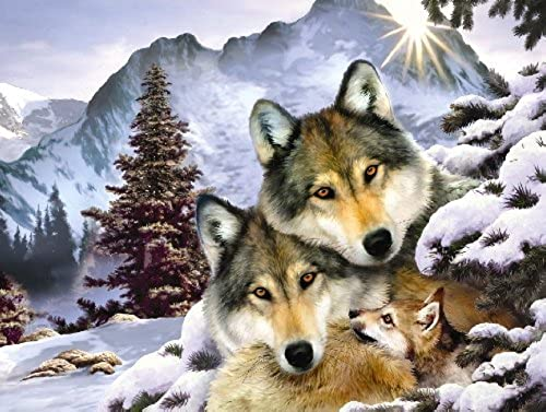 Wolf Harmony Jigsaw Puzzle 500 Piece by SunsOut