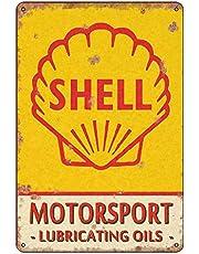 Shell Vintage Classic Advert Garage Metal Wall Garage Sign Garden Shed metalen bord - metalen bord geschenk 200 mm x 300 mm Een waardevol kunstwerk, je hebt het verdiend, -TPH0069