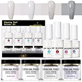 BORN PRETTY Dipping Powder Starter Kit with Acrylic Powder and Gel Resin, Easy to Use French Dip Powders Nail Color System UV/LED Light Free