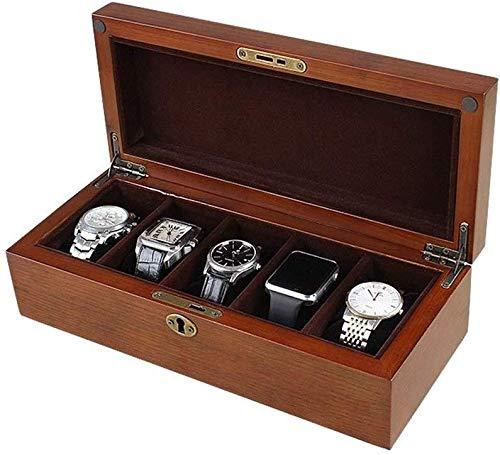 SHANCL Brown-Uhr-Box Schmuck-Uhren Shop Manschettenknöpfe Uhr Kissen Display Box