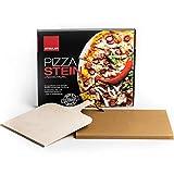 STEULER Pizzastein/Brotbackstein 38x30 cm rechteckig | Ultraleicht Cordierit | Made...