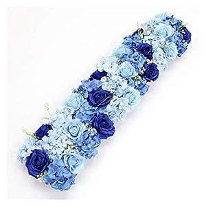 Osdfrlk Artificial Flowers Artificial Flower Arrangement Silk Gypsophila Flower Row Decor for Wedding Backdrop Party Supplies Props 50/100CM
