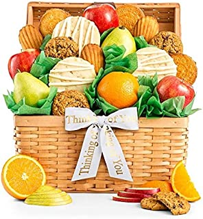 GiftTree Fresh Fruit and Gourmet Cookies Thinking of You Gift Basket | Premium Fresh Pears, Apples and Juicy Oranges with Fresh Cookies | Show Them They're On Your Mind