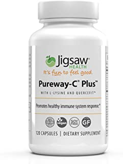 Jigsaw Health - Pureway-C Plus with L-Lysine and Quercetin - to Further Support a Healthy Immune System, He...