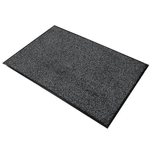 LIMING-tapijt vloermatten huisdeur buiten gepersonaliseerd, rubber deurmat dubbele mat - met rubberen bekleding, grijs