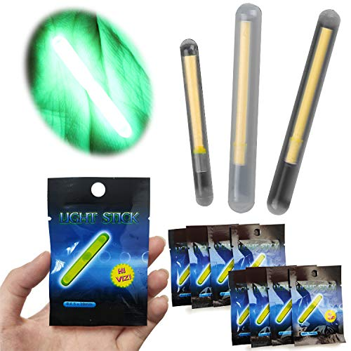 BPS 24 Pcs 4.5 * 39 mm Varilla del Flotador Pesca Barritas de Luz Fluorescente para Pesca Pack de Barras de Luz Float Glow Stick Night Fishing Brillante Luminoso OZL-16101 * 12