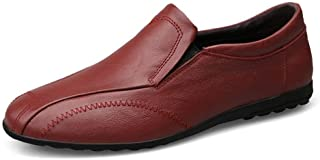 Enjoy4Beauty- Driving Loafer for Women Boat Shoes Flat Fashion Unique Stiched Upper Elastic Band Genuine Leather Lug Sole ...