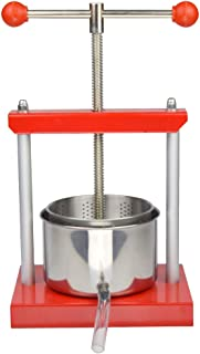 0.53 Gal Fruit Wine Press - 100% Natural Juice Making for Apple/Carrot/Orange/Berry/Vegetables,Food-Grade Stainless Steel Cheese&Tincture&Herbal Press
