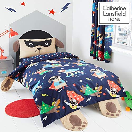 Catherine Lansfield Super Dog Easy Care Single Duvet Set Navy