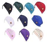 Seupeak Sombrero de capó de Hijab de Color sólido de Las Mujeres con Turbante Anti-Apretado Turbante Anti-Apretado para Regalo (Color : WR)