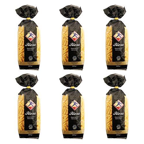 6er Pack Riesa Nudel Goldtraum Spiralen (6 x 500 g) Teigwaren, Spirelli, Riesa Nudeln, Pasta