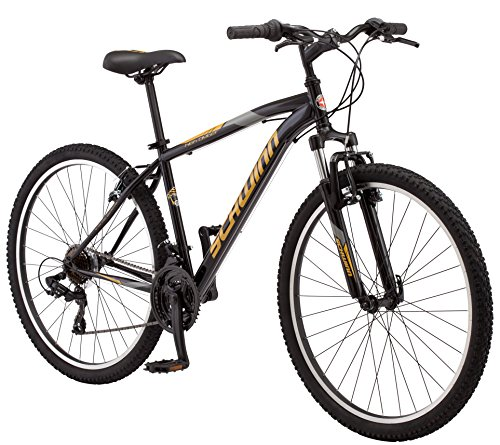 Schwinn High Timber Mountain Bike, Steel Frame, 27.5-Inch Wheels, Black