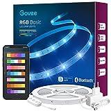 Govee Striscia LED RGB 10m, Intelligente Bluetooth Strisce LED Dimmerabile Multicolore Controllo...