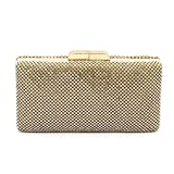 Shiratori Womens Crystal Evening Bags Formal Cocktail Clutch Purse,Golden