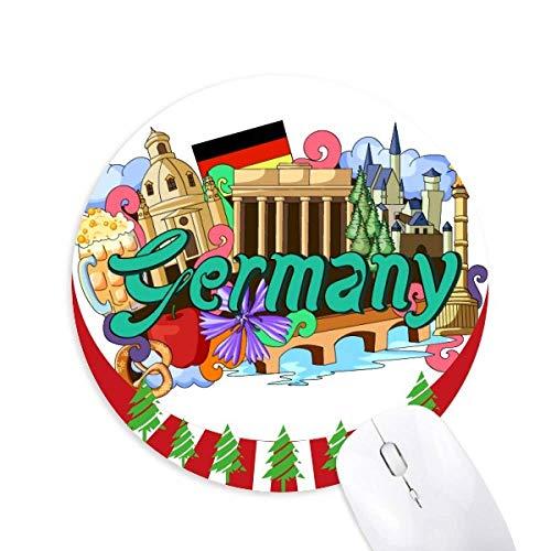 Neue Swan Stone Castle Bier Deutschland Graffiti Round Rubber Mouse Pad Weihnachtsdekoration